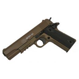 Colt M1911 TAN Spring Pistol with Metal Slide